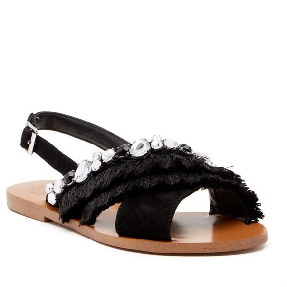 a9824c186ffd Vince Camuto Ampella Embellished Fringe Sandal